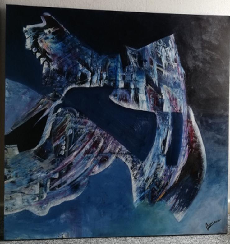 Bild 2: 2 moderne dekorative Bilder (je 100cm x 100cm) der Malerin Ö. Oezener zu verkaufen