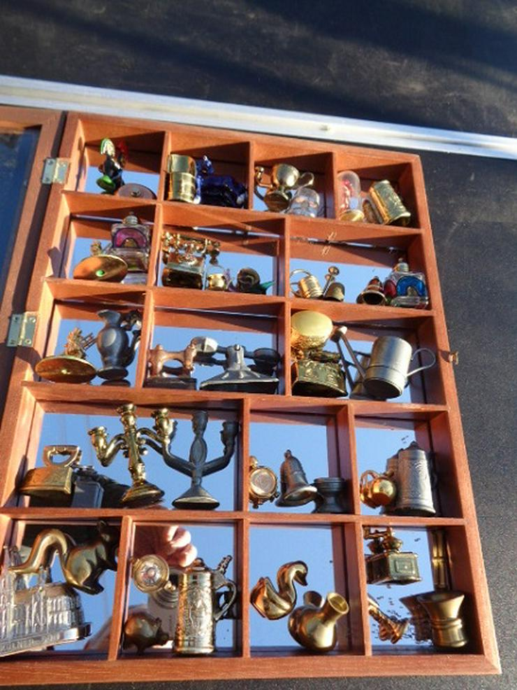 Über 50 alte Messing Figuren u.a von Sammlung + Setzkasten