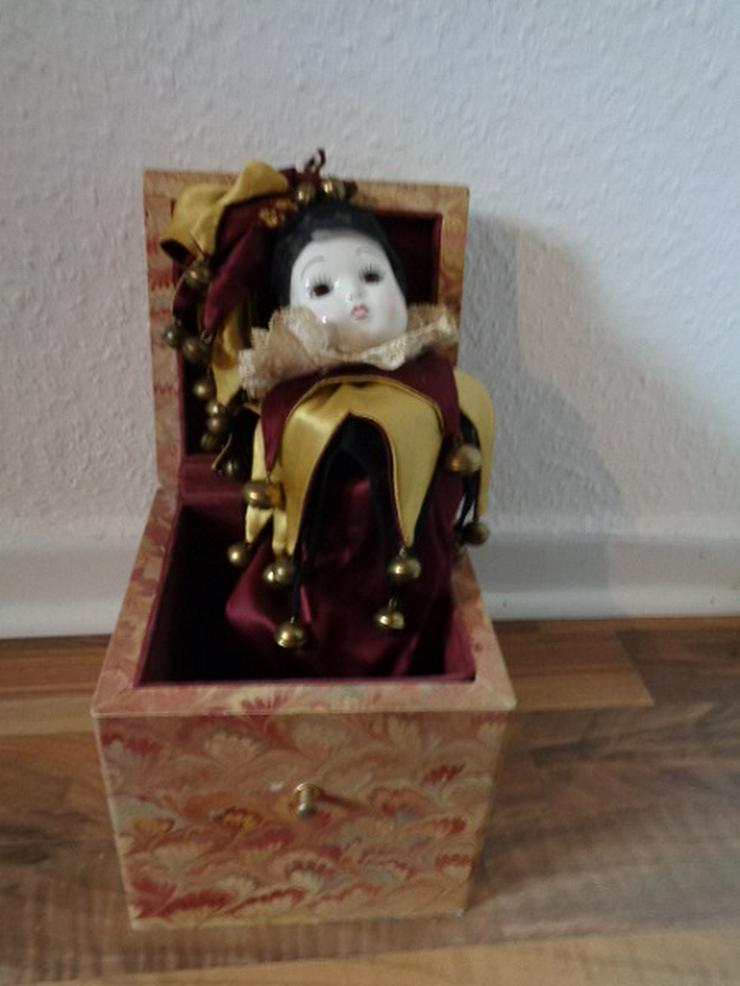 Clown-Springteufel, Schachtelmännche, Jack in the Box, Antik?