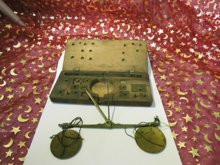 Antike Gold - und Münzwaage um 1820 / vormetrische Taschenwaage - Weitere - Bild 1