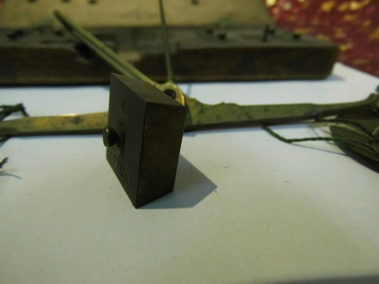 Bild 5: Antike Gold - und Münzwaage um 1820 / vormetrische Taschenwaage