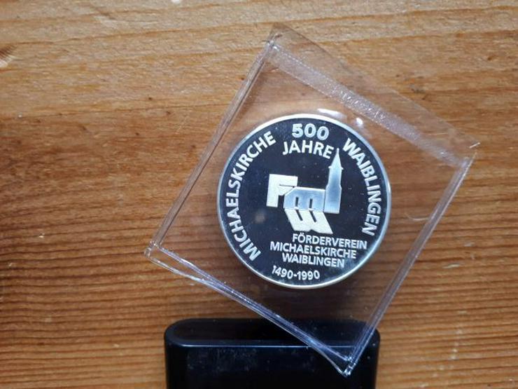 Bild 2: Silbermünze 500 Jahre Michaelskirche Waiblingen