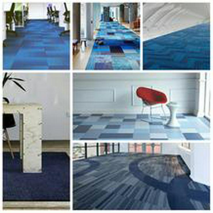 Bild 3: Großer Vorrat Blauen Color Collection Teppichfliesen Billig! 3,75€