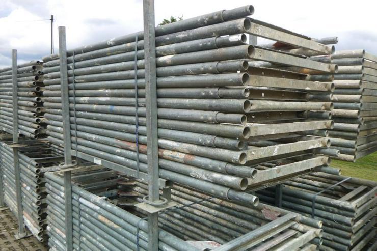 Layher Blitzgerüst Stellrahmen Gerüst Rahmen 2,00m x 0,73m Stahl - Baustellenausstattung - Bild 1