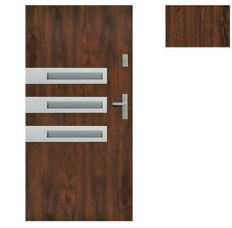 Bild 3: Tür Stahltür Haustür Eingangstür 65 mm warm Wega 90 Goldeiche Nuss Anthrazit