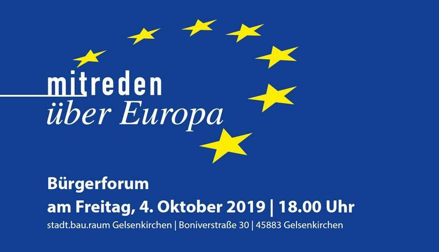 Mitreden über Europa am 4. Oktober 2019 in Gelsenkirchen - Weiterbildung & Vorträge - Bild 1