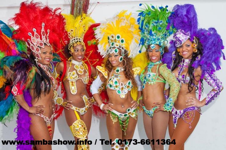 Sambashow & Sambatänzerinnen für Ihre Hochzeits- Firmen- oder Geburtstagsfeier