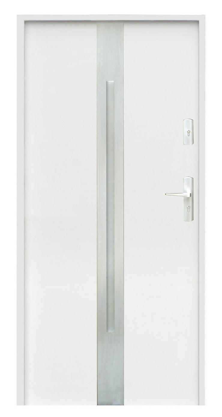 Bild 3: Tür W18 Haustür Eingangstür Stahltür Inox doppelseitige Anwendung Anthrazit Weiß