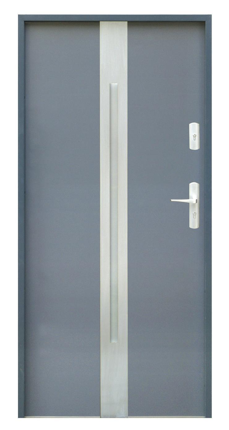 Bild 2: Tür W18 Haustür Eingangstür Stahltür Inox doppelseitige Anwendung Anthrazit Weiß