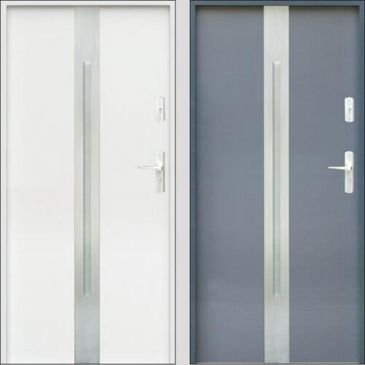 Tür W18 Haustür Eingangstür Stahltür Inox doppelseitige Anwendung Anthrazit Weiß - Türen - Bild 1