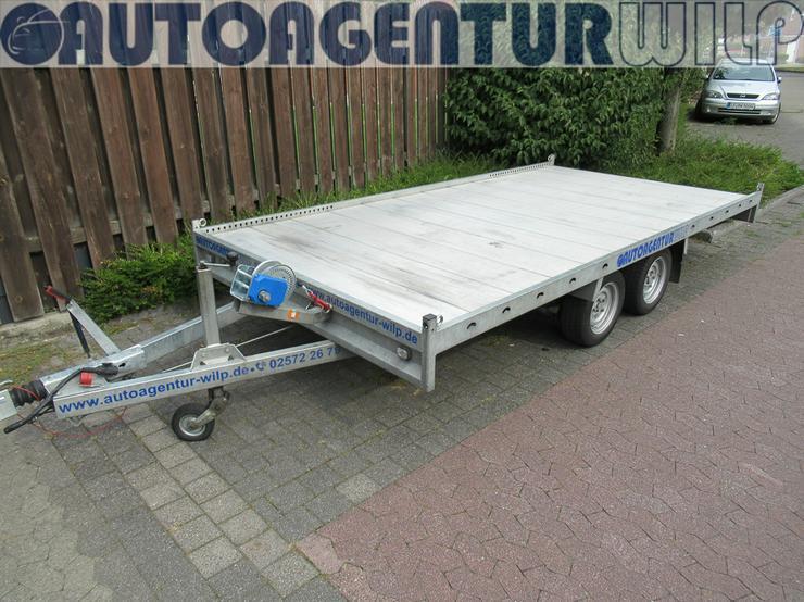 Bild 2: Plattformanhänger Multitransporter Ladefläche 4x2m Anhänger mieten