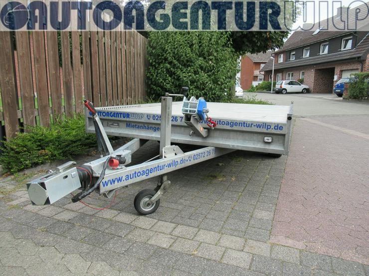 Plattformanhänger Multitransporter Ladefläche 4x2m Anhänger mieten - Anhänger - Bild 4