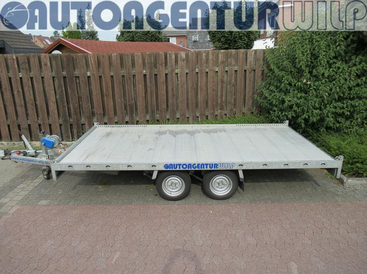 Plattformanhänger Multitransporter Ladefläche 4x2m Anhänger mieten - Anhänger - Bild 1