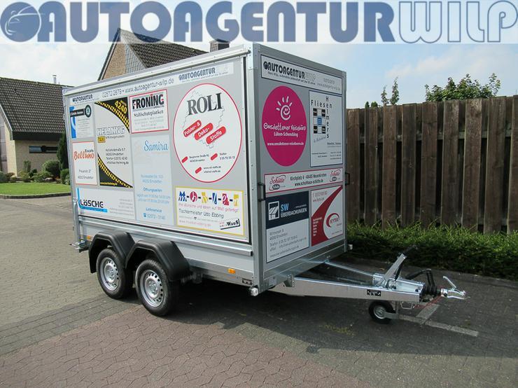 Kofferanhänger 2.000 kg, 3,00x1,48x1,80 m mieten großer Anhänger - Anhänger - Bild 1