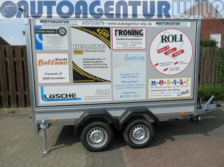 Bild 4: Kofferanhänger 2.000 kg, 3,00x1,48x1,80 m mieten großer Anhänger