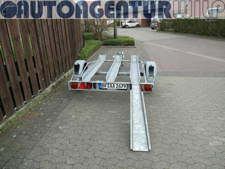 Motorradanhänger für 1 - 2 Motorräder mieten 750 kg zu vermieten - Anhänger - Bild 4