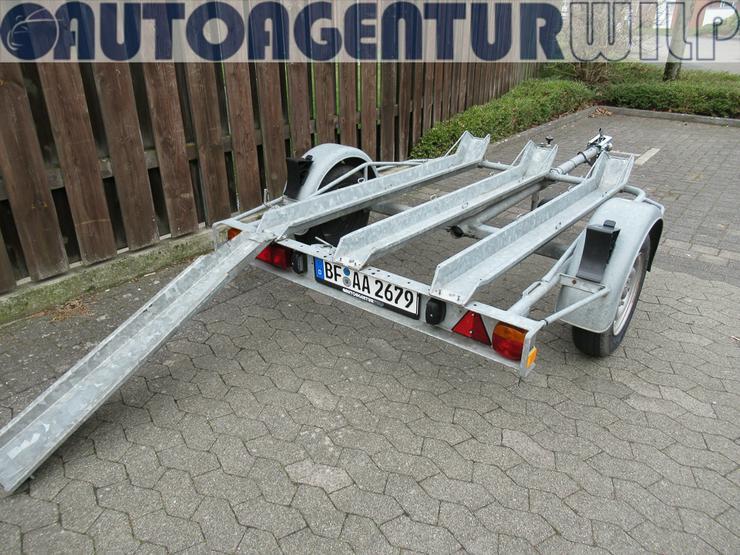 Bild 7: Motorradanhänger für 1 - 2 Motorräder mieten 750 kg zu vermieten
