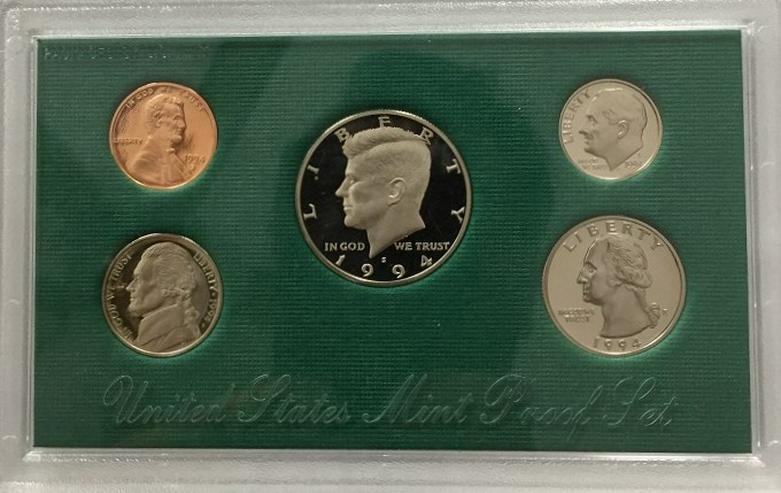 USA Kursmünzensatz 1 Cent bis Half Dollar 1994