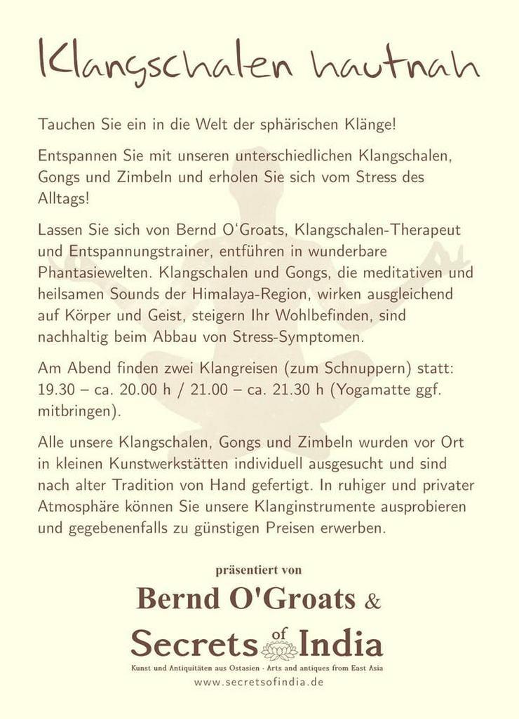 """Bild 2: Klangschalenabend """"Klangschalen hautnah"""" am 23.10. in Köln-Buchheim"""