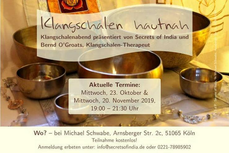 """Klangschalenabend """"Klangschalen hautnah"""" am 23.10. in Köln-Buchheim - Lebenshilfe - Bild 1"""