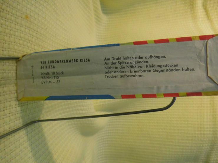 Bild 6: DDR 5 Packungen RIESA Wunderkerzen á 10 Stk. / Requisite, Dekoration, Ostalgie