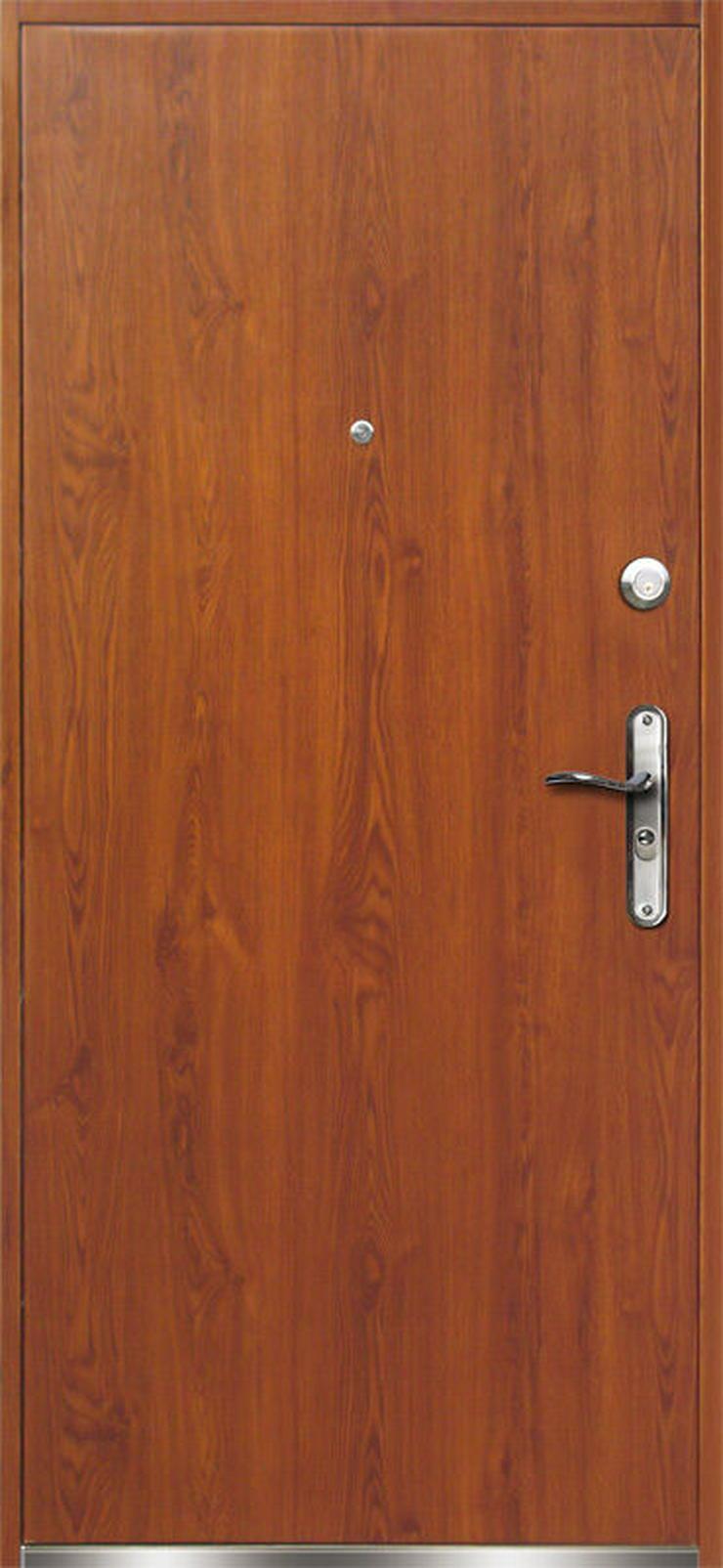 Tür VERONA Haustür Eingangstür Stahltür 80/90 Breite 45 mm Golden Eiche - Türen - Bild 1