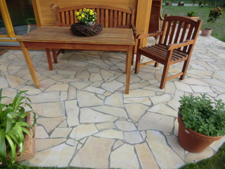 Bild 4: Natursteine Polygonalplatten Terrasse Fliesen SOMMER VERKAUF