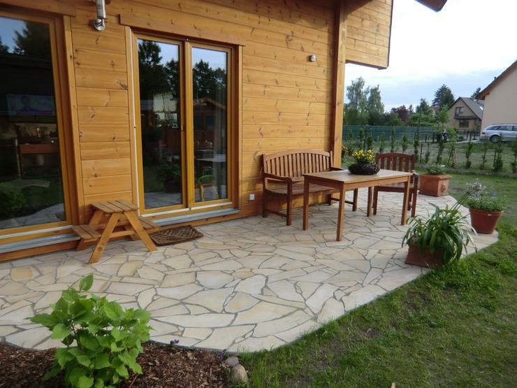 Bild 2: Natursteine Polygonalplatten Terrassenplatten Einfahrt Fassade Neu