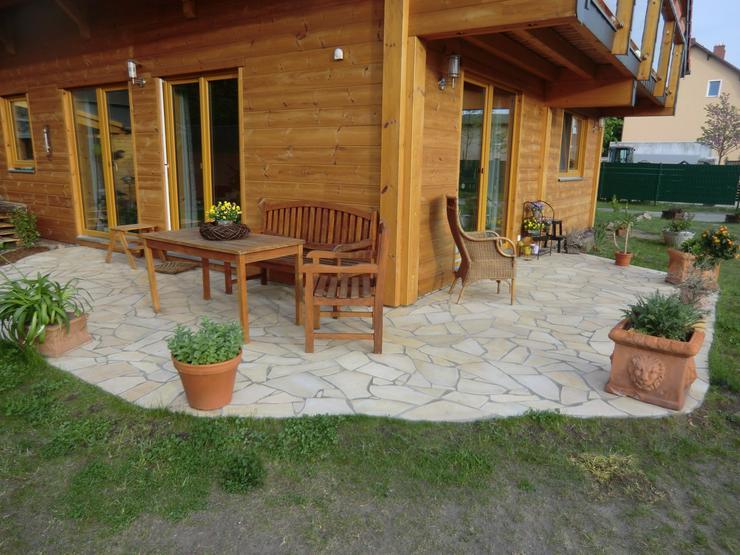 Bild 5: Natursteinplatten Polygonalplatten Einfahrt, Terrasse, Fassade Aktion