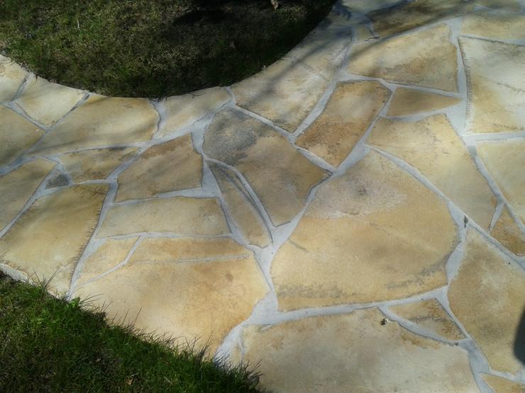 Bild 3: Natursteinplatten, Polygonalplatten Fliesen Terrasse