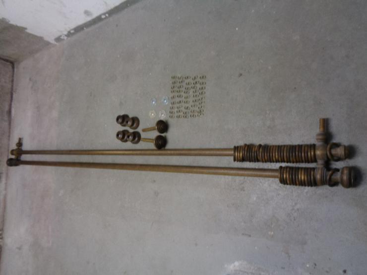 Doppel Gardinenstangen Holz mit Träger Halterung und Haken