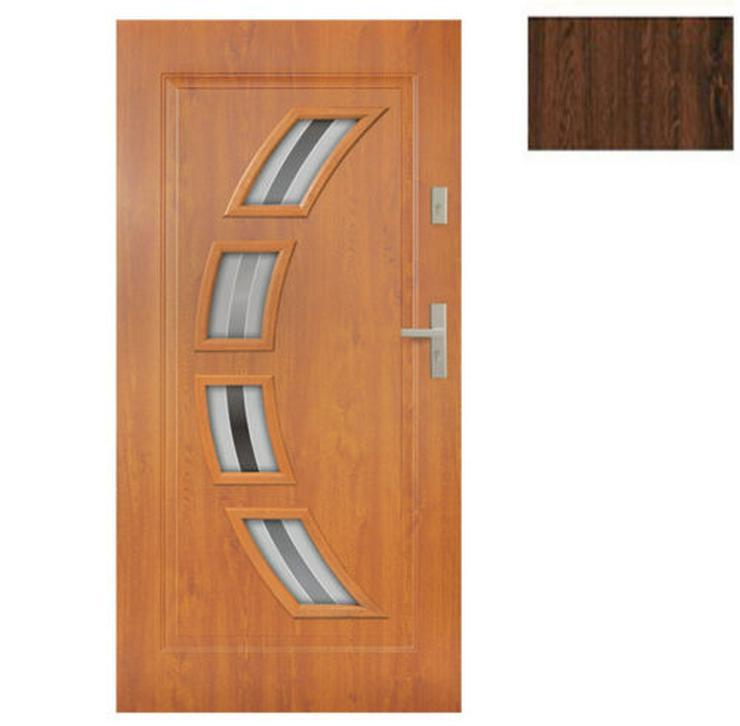 Bild 3: Tür Stahltür Eingangstür Haustür 65mm warm 90 100 Goldeiche Nuss Anthrazit Forte