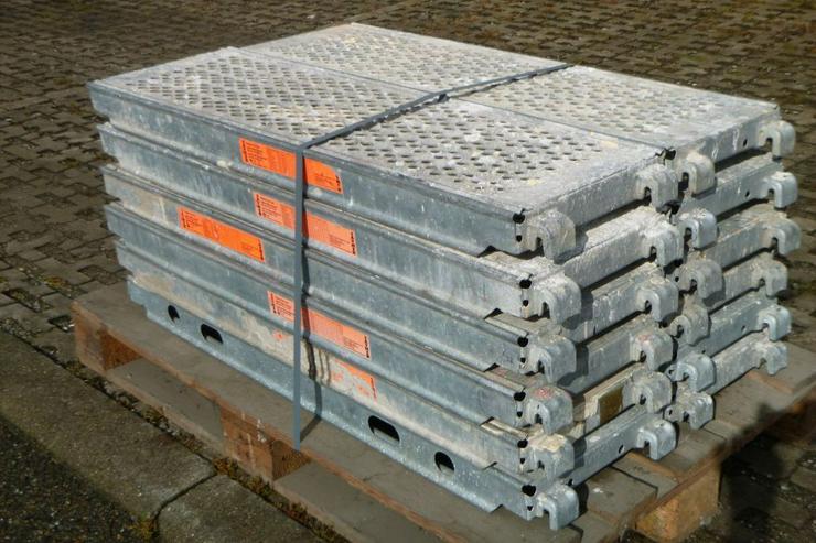 Bild 3: 12 St. Layher Stahlbeläge Beläge 1,09m x0,32m Stahlböden