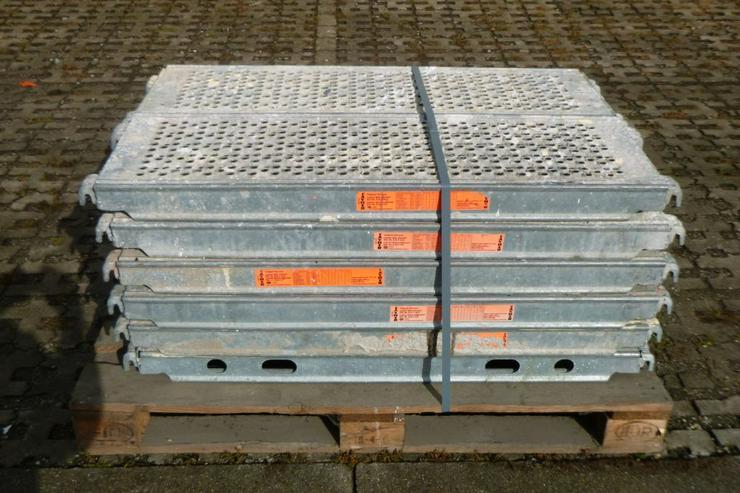 12 St. Layher Stahlbeläge Beläge 1,09m x0,32m Stahlböden - Weitere - Bild 1