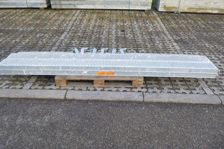 5 St. Layher Stahlbeläge Stahlböden 3,07m + Steckkonsolen 0,19m - Weitere - Bild 1