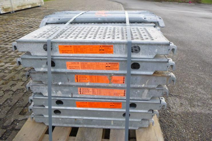 Bild 2: 21 St. Layher Stahlbeläge Stahlböden 0,73m + 11 St.Geländer 0,73m für Gerüst