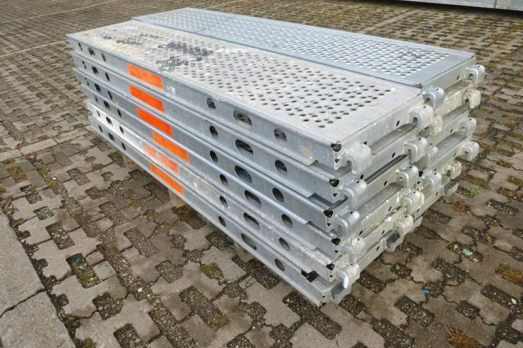 Bild 3: 12 St. Layher Stahlbeläge Stahlböden U-Stahlboden 1,57m x 0,32m