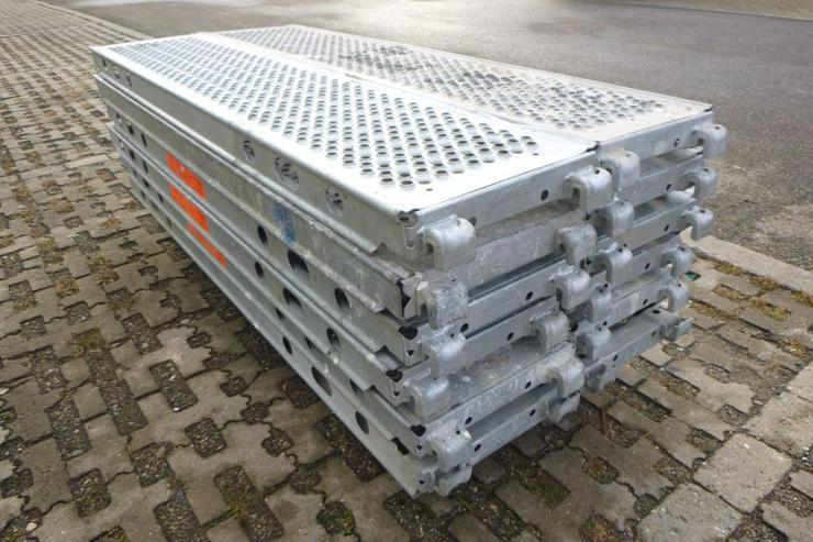 Bild 2: 12 St. Layher Stahlbeläge Stahlböden U-Stahlboden 1,57m x 0,32m