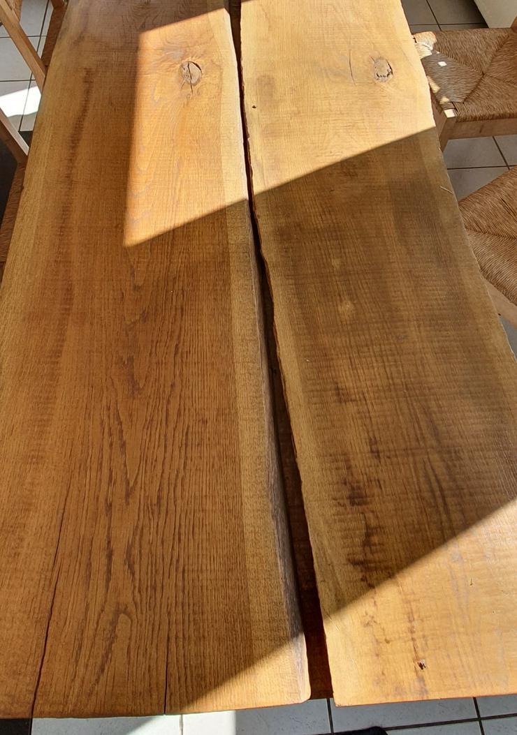 Bild 6: Esszimmertisch aus Eichemassivholzbohlen