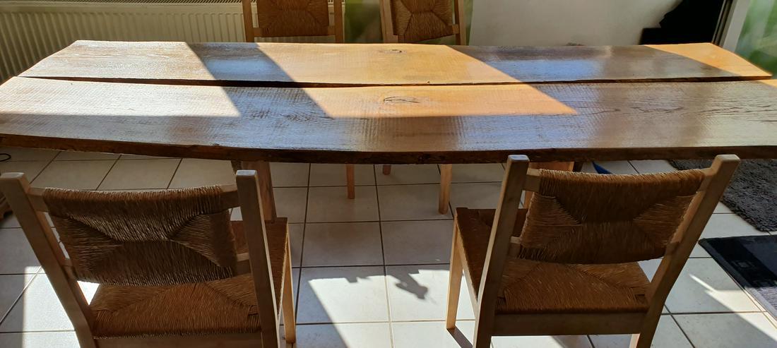 Esszimmertisch aus Eichemassivholzbohlen  - Esstische - Bild 1