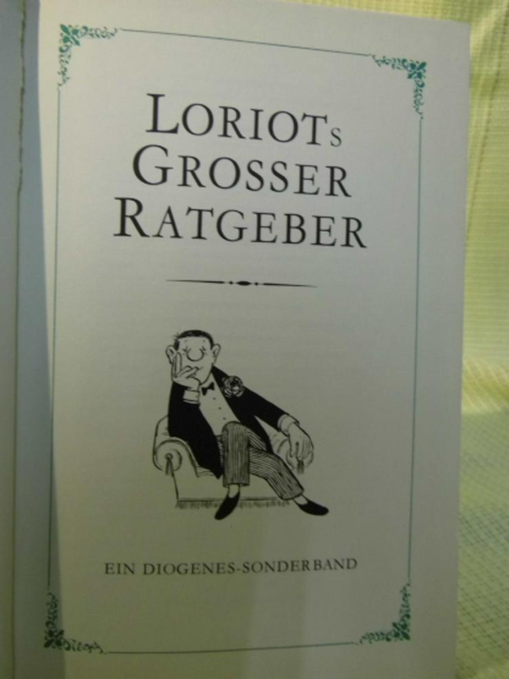 Buch Loriot's Großer Ratgeber / Humor Vicco von Bülow / 1968 Diogenes Verlag