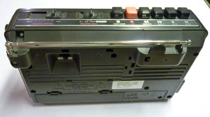 Bild 2: Philipps Kofferradio mit Kassettenrecorder, Netz oder Batterie