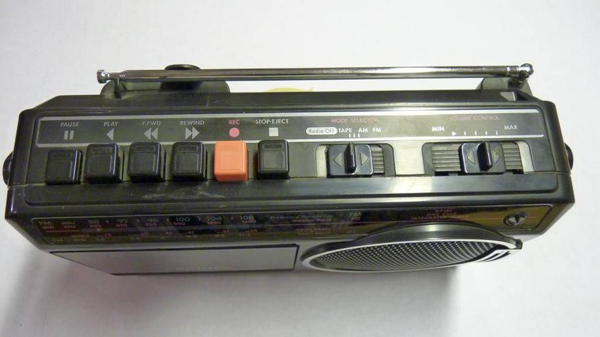 Bild 5: Philipps Kofferradio mit Kassettenrecorder, Netz oder Batterie