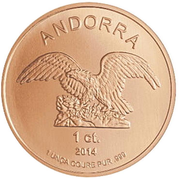 Andorra 1 Cent Eagle 2014