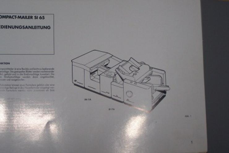 Bild 4: Falzmaschine Kuvertiermaschine NEOPOST SI65, Top-Zustand