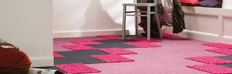 Bild 4: Rosa Heuga 727 Teppichfliesen Kinderzimmer Schlafzimmer