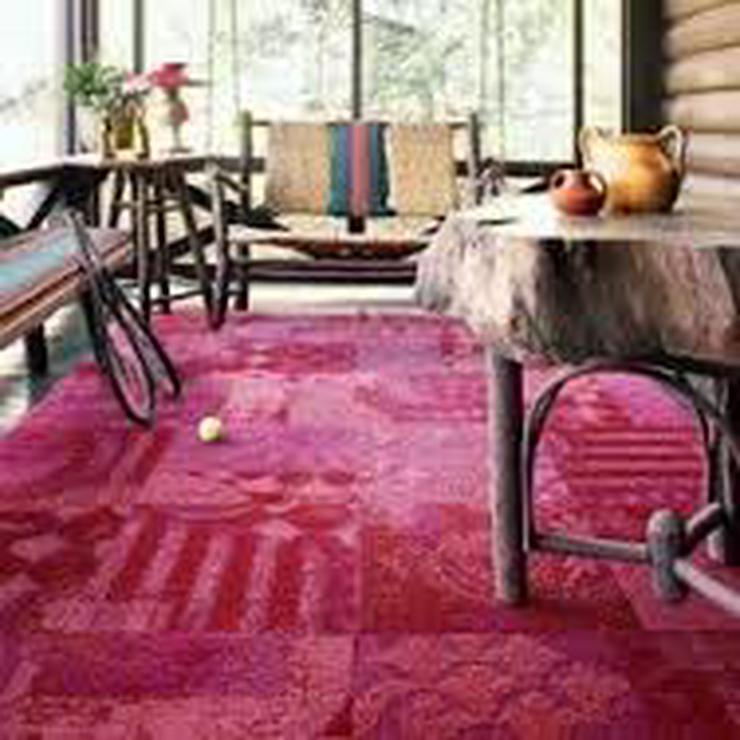 Bild 2: Rosa Heuga 727 Teppichfliesen Kinderzimmer Schlafzimmer