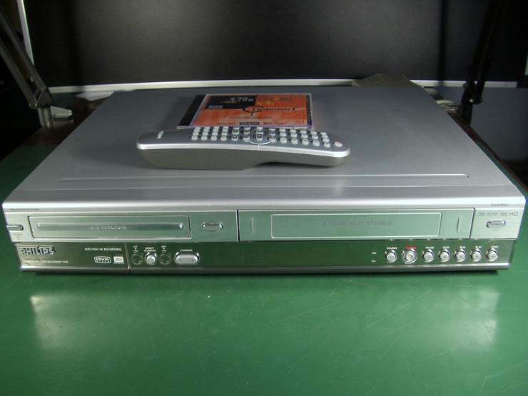 Phillips DVDR 3320V VHS und DVD Kombi Recorder mit Fernbedienung,Dubbing und i.LINK Eingang