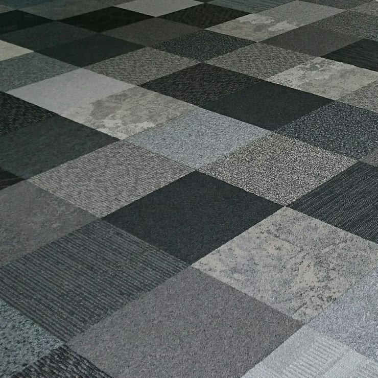 Bild 4: Schöne Mix aus Grauen Interface Teppichfliesen Sehr dekorativ