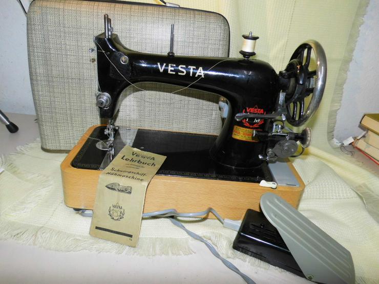 Antike Schwingschiffnähmaschine Juno Vesta 1920/ 30 / elektrische Nähmaschine